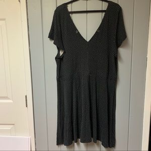 American eagle Plunging V polka dot dress